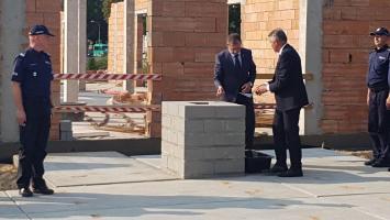Poświęcenie i wmurowanie aktu erekcyjnego pod budowę nowego komisariatu policji w Białogardzie