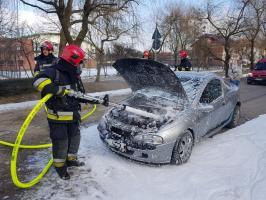 Pożar auta w Białogardzie!