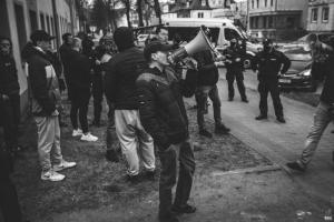 Protest kibiców w Białogardzie - fotoreportaż.
