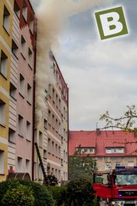 Pożar mieszkania na oś Lelewela.