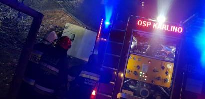 Pożar domu w Kowańczu pod Karlinem - jedna osoba poszkodowana!