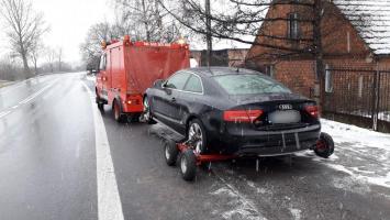 Kierowca sportowego Audi wydmuchał ponad 2 promile - stracił uprawnienia!