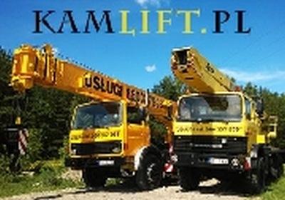 KAMLIFT usługi dźwigowe i podnośnikowe