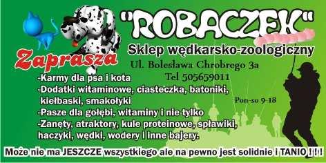 Sklep Wędkarsko - zoologiczny ROBACZEK