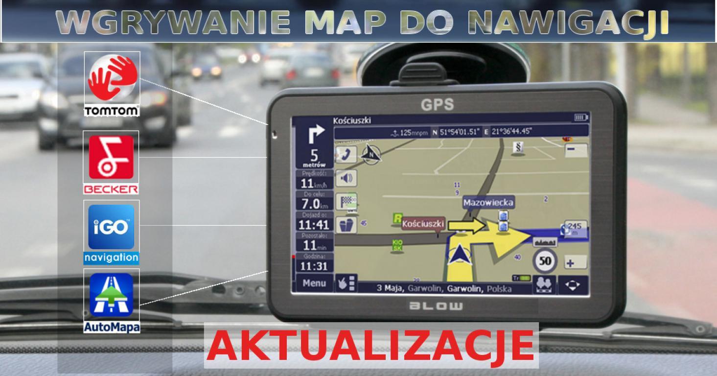 Aktualizacje nawigacji, programowanie, grafika.
