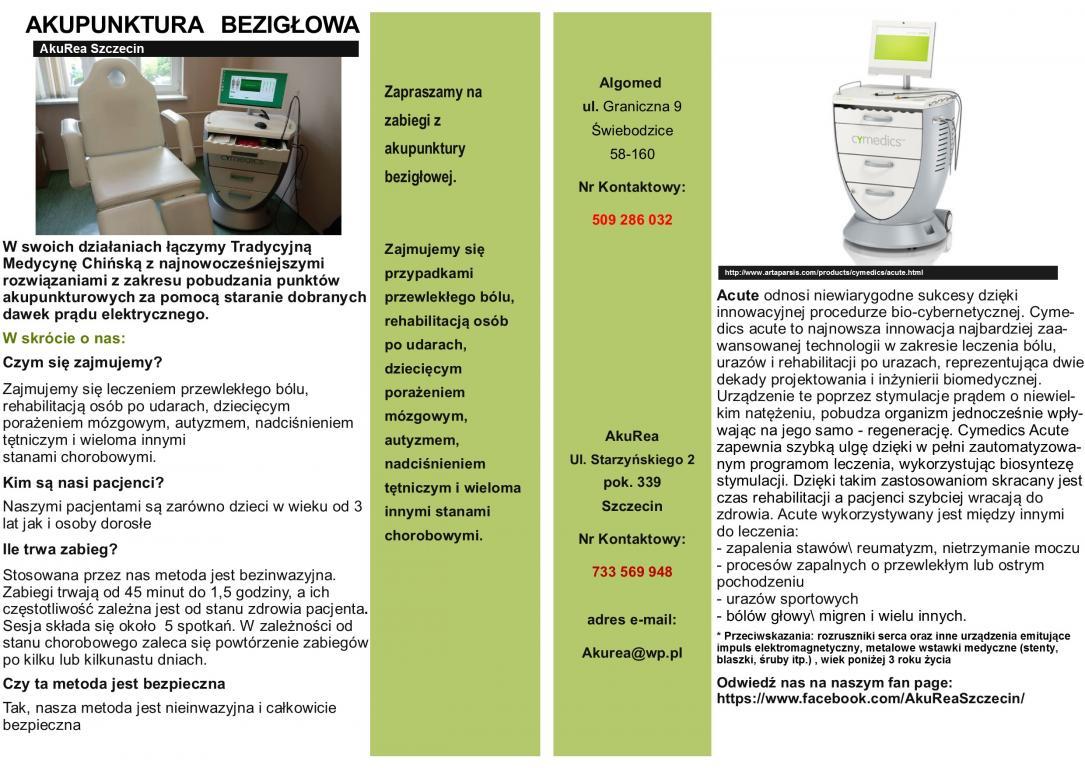 Akupunktura bezigłowa Szczecin\Świebodzice