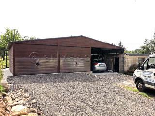 Garaż blaszany wiata imitacja drewna garaże 11x6