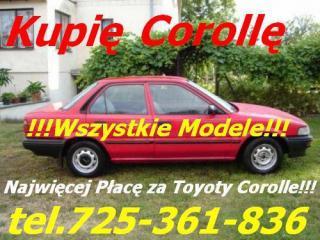 Kupię Toyotę Avensis Corollę Carinę Yaris Aygo Aur